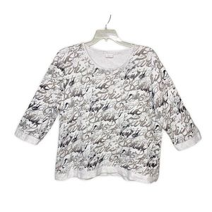 Weekends By Chico's Graphic Pullover Sweatshirt